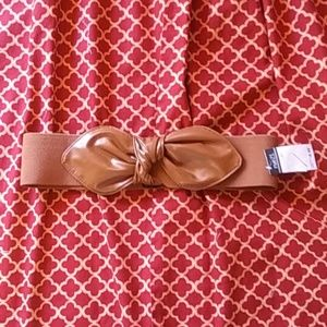 Wide elastic belt with bow knot size M